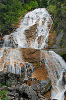 Skalkaho Falls<br /> Highway 38<br /> Bitterroot National Forest<br /> Rocky Mountains,  Montana