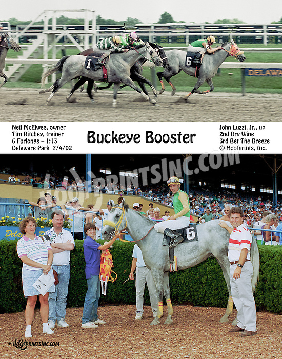 Buckeye Booster winning at Delaware Park on 7/4/92