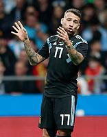 Argentina's Nicolas Otamendi during international friendly match. March 27,2018.(ALTERPHOTOS/Acero) /NortePhoto.com NORTEPHOTOMEXICO