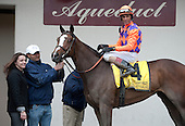 Summer Applause in the winners circle after the Top Flight.