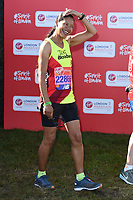 Jaye Griffiths<br /> at the start of the 2018 London Marathon, Greenwich, London<br /> <br /> ©Ash Knotek  D3397  22/04/2018