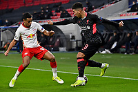 16th February 2021, Puskas Arena, Budapest, Hungary;  Champions League Round of 16 first leg in Budapest, RB Leipzig versus Liverpool;  Tyler Adams RB Leipzig, Roberto Firmino FC Liverpool