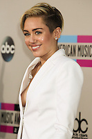 LOS ANGELES, CA - NOVEMBER 24: Miley Cyrus arriving at the 2013 American Music Awards held at Nokia Theatre L.A. Live on November 24, 2013 in Los Angeles, California. (Photo by Celebrity Monitor)