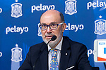 Pelayos Seguros's president Jose Boada during the press conference at the The Football City of the Royal Spanish Football Federation in Madrid 19th March 2019. (ALTERPHOTOS/Alconada)