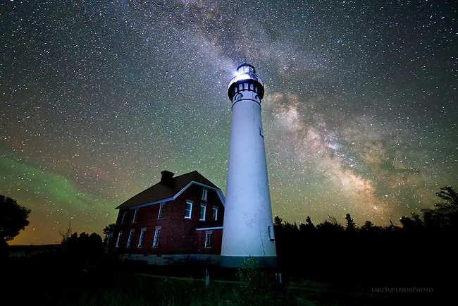 Au Sable Lighthouse and Milky Way