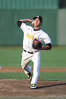 South Bend Silver Hawks pitcher Braden Shipley (27) during a game against the Bowling Green Hot Rods on August 20, 2013 at Stanley Coveleski Stadium in South Bend, Indiana.  Bowling Green defeated South Bend 3-2.  (Mike Janes/Four Seam Images)