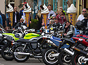 04/05/15<br /> <br /> Motorcyclists admire each other's bikes and eat fish-and-chips and ice cream as they meet up for the Bank Holiday at Matlock Bath in the Derbyshire Peak District.<br /> <br /> All Rights Reserved - F Stop Press.  www.fstoppress.com. Tel: +44 (0)1335 418629 +44(0)7765 242650