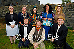 """The members of the Memory Lane Theatre Lixnaw with their production """"Roadside"""" an open air play in Lixnaw on Tuesday evening. Kneeling l to r: Ciaran O'Murchu (Jones), Padraig Dennehy (Lord Wonky) and Chris Fitzgerald (Sam Muldoon). Back l to r: Emily Keane (Maid of the Manor), Siobhan Keane (Angela Muldoon), Maria Conway (Isabelle Flimsy), Roisin Power (Lady Elenor Flimsy) and Gloria Keane (Mary Canning)."""