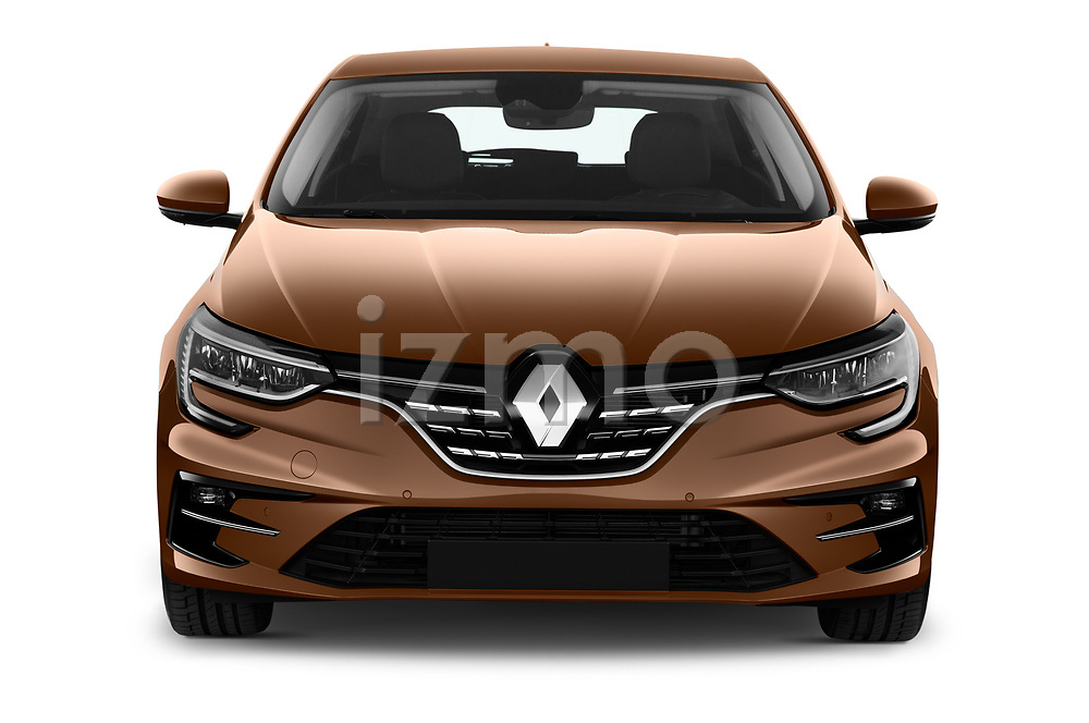 Car photography straight front view of a 2020 Renault Megane Edition-One 5 Door Hatchback Front View