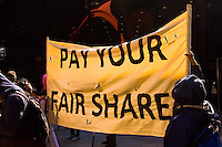Make Corporations Pay Their Fair Share of Taxes Protest Chicago Illinois 4-17-2012