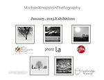 International award-winning photographer Michael Knapstein has images in five exhibitions during the month of January, 2015.