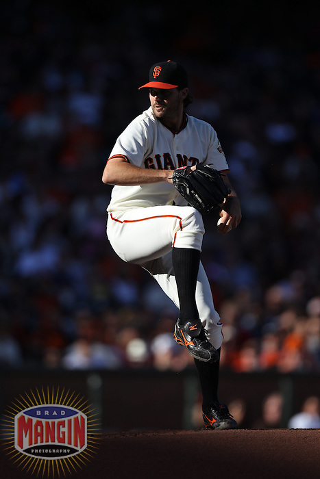 SAN FRANCISCO, CA - SEPTEMBER 9:  Barry Zito #75 of the San Francisco Giants pitches against the Los Angeles Dodgers during the game at AT&T Park on Sunday, September 9, 2012 in San Francisco, California. Photo by Brad Mangin