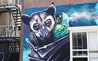 Nederland Rotterdam - September 2020. Afrikaander wijk. Street art festival POW!WOW! . Muurschildering van Nina Valkhoff.  Foto : ANP/ Hollandse Hoogte / Berlinda van Dam