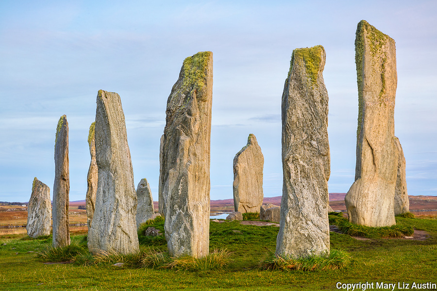 Isle of Lewis and Harris, Scotland: Evening light on the Callanish Standing Stones