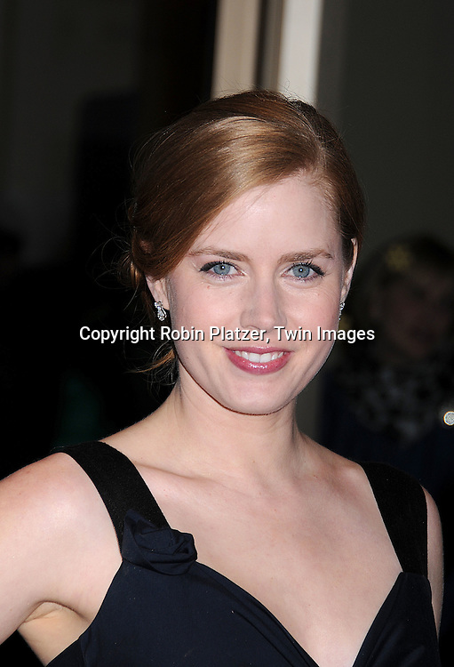 actress Amy Adams.arriving at The Film Society of Lincoln Center 35th Gala Tribute to Meryl Streep on April 14, 2008 at Avery Fisher Hall. ..Robin Platzer, Twin Images