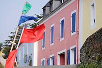 Europe/France/Bretagne/56/Morbihan/Belle-Ile/ Sauzon:  Détail des maisons des pécheurs