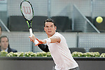 Milos Raonic, Canada, during Madrid Open Tennis 2015 match.May, 7, 2015.(ALTERPHOTOS/Acero)