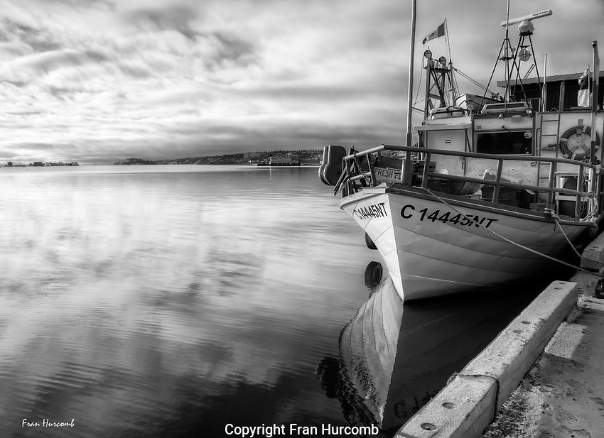 Fishing boat at the Government Dock Yellowknife