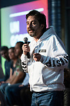 """Rafa Mayoral in the act of beginning of the campaign """"Unidas Podemos"""" in Madrid. The spokesman of this party in Congress, Irene Montero, and the federal coordinator of IU, Alberto Garzón, intervene in it.<br /> October 31, 2019. <br /> (ALTERPHOTOS/David Jar)"""