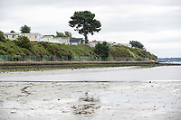 BNPS.co.uk (01202) 558833. <br /> Pic: BNPS<br /> <br /> Pictured: Holiday homes at Rockley Park above the beach at Rockley Point in Poole Harbour, Dorset. <br /> <br /> A grieving mother who complained to a caravan park about the lack of safety measures at a beach where her son drowned has been offered a free holiday in response.<br /> <br /> Callum Osborne-Ward, 18, was swept away in front of his family moments after rescuing several children from a deadly riptide at Rockley Point in Poole Harbour, Dorset, last month.<br /> <br /> His devastated mother Ann Marie Osborne has since criticised holiday firm Haven, which owns the caravan park backing onto the waterway, for failing to warn visitors about the hidden riptide and advertising the beach on its website.