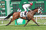General Perfect with Joe Bravo win the $65,000 John McSorley Stakes for 3-year olds & up, 5 1/2 furlongs on the turf at Monmouth Park.  Trainer Glenn Thompson.  Owner Pasquale Vizzoni