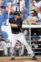 February 25, 2009:  Third baseman Kevin Russo (76) of the New York Yankees during a Spring Training game at Dunedin Stadium in Dunedin, FL.  The New York Yankees defeated the Toronto Blue Jays 6-1.   Photo by:  Mike Janes/Four Seam Images