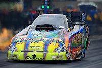 Oct. 2, 2011; Mohnton, PA, USA: NHRA funny car driver Tony Pedregon during the Auto Plus Nationals at Maple Grove Raceway. Mandatory Credit: Mark J. Rebilas-