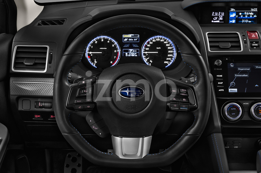 Car pictures of steering wheel view of a 2017 Subaru Levorg GT-S Premium 5 Door Wagon