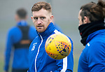 St Johnstone Training…….07.02.20<br />Liam Craig pictured with Stevie May during a foggy training session at McDiarmid Park this morning ahead of tomorrows Scottish Cup game at Ayr.<br />Picture by Graeme Hart.<br />Copyright Perthshire Picture Agency<br />Tel: 01738 623350  Mobile: 07990 594431