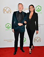 SANTA MONICA, USA. January 18, 2020: Jared Harris & Allegra Riggio at the 2020 Producers Guild Awards at the Hollywood Palladium.<br /> Picture: Paul Smith/Featureflash