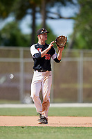 Ryan Cermak during the WWBA World Championship at the Roger Dean Complex on October 19, 2018 in Jupiter, Florida.  Ryan Cermak is a shorstop from Riverside, Illinois who attends Riverside Brookfield Township High School and is committed to Illinois State.  (Mike Janes/Four Seam Images)