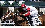 American Bound #2, ridden by Luis Saez wins the third race, a maiden special weight for two-year-old fillies on Keeneland Opening Day at Keeneland Race Course in Lexington, Kentucky on April 02, 2021. Candice Chavez/Eclipse Sportswire/CSM