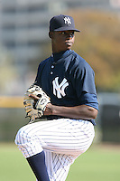 March 17th 2008:  Arodys Vizcaino of the New York Yankees minor league system during Spring Training at Legends Field Complex in Tampa, FL.  Photo by:  Mike Janes/Four Seam Images