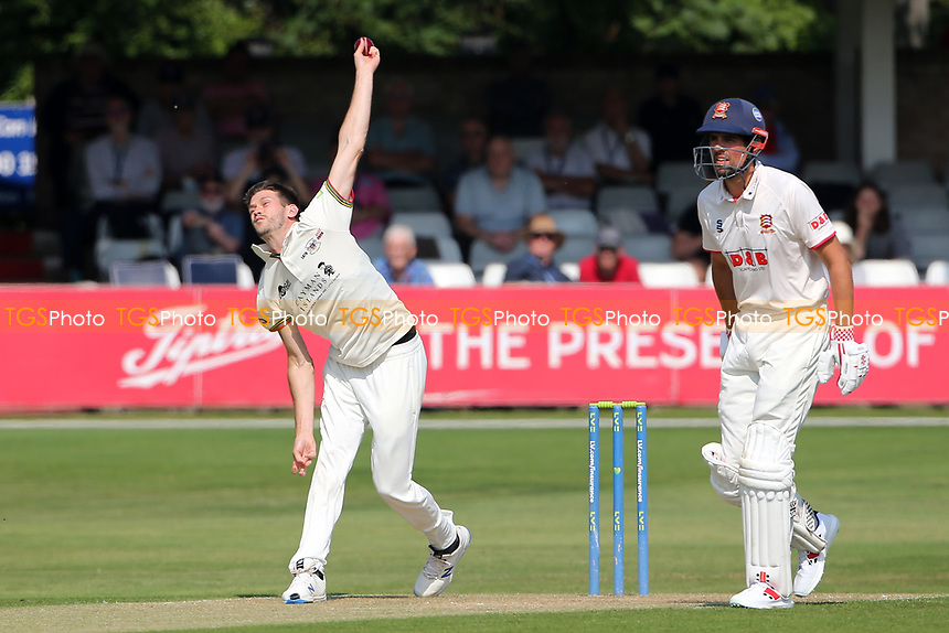 David Payne in bowling action for Gloucestershire during Essex CCC vs Gloucestershire CCC, LV Insurance County Championship Division 2 Cricket at The Cloudfm County Ground on 5th September 2021