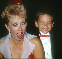 Sandy Duncan and son 1990 Photo by Adam Scull-PHOTOlink.net