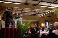 Montreal (QC) CANADA, April 18, 2008 - <br /> <br /> Larry Smith, President and Chief<br /> Executive Officer of the Montreal Alouettes,at the<br /> Canadian Club of Montreal. He shared his insights about sports and<br /> education.<br /> <br /> photo : (c) ¬Pierre Roussel -  images Distribution