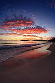 Coucher de soleil sur l'Ile des Pins, Nouvelle-Calédonie