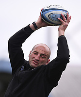 29th May 2021; Sixways Stadium, Worcester, Worcestershire, England; Premiership Rugby, Worcester Warriors versus Leicester Tigers; Steve Borthwick Director of Rugby for Leicester Tigers coaches his hookers on lineout skills