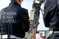 Roma, 21 Novembre 2018<br /> La polizia Locale di Roma ha iniziato la demolizione di otto ville costruite illegalmente appartenenti ai membri del clan criminale  mafioso dei  Casamonica L'operazione sul lato est della capitale  in Via del Quadraro è stata pianificata per 10 mesi, e ha coinvolto 600 poliziotti comunali .