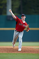 Shane Panzini (36) of Red Bank Catholic HS in Spring Lake, NJ playing for the Boston Red Sox scout team during the East Coast Pro Showcase at the Hoover Met Complex on August 3, 2020 in Hoover, AL. (Brian Westerholt/Four Seam Images)