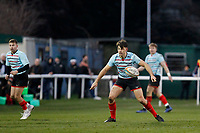 Markus Burcham of Blackheath Rugby watches play unfold during the English National League match between Richmond and Blackheath  at Richmond Athletic Ground, Richmond, United Kingdom on 4 January 2020. Photo by Carlton Myrie.
