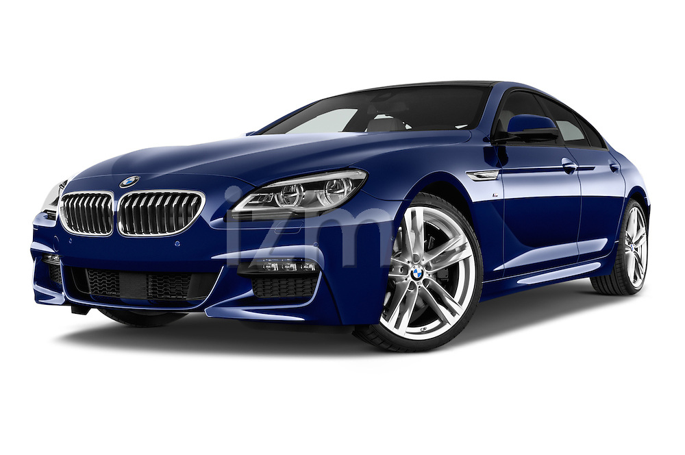 Stock pictures of low aggressive front three quarter view of a 2015 BMW 6 Series M Sport 2 Door Coupe