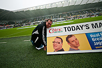 Saturday 17 August 2013<br /> <br /> Pictured: Kev Johns<br /> <br /> Re: Barclays Premier League Swansea City v Manchester United at the Liberty Stadium, Swansea, Wales