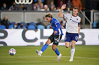 SAN JOSE, CA - MAY 1: Cade Cowell #44 of the San Jose Earthquakes shoots and scores during a game between D.C. United and San Jose Earthquakes at PayPal Park on May 1, 2021 in San Jose, California.