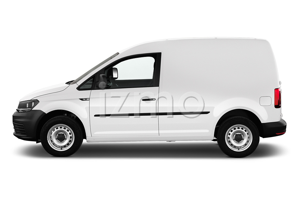 Car driver side profile view of a 2019 Volkswagen Caddy Van Base 4 Door Car van
