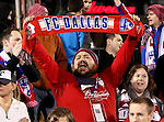 FC Dallas fans in action during the game between the FC Dallas and the Real Salt Lake at the FC Dallas Stadium in Frisco,Texas.