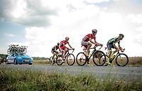 breakaway group taking more then 7 minutes over the peloton: Guillaume Van Keirsbulck (BEL/Wanty-Groupe Gobert), Dimitri Claeys (BEL/Cofidis), Jérôme Cousin (FRA/Direct Energie) & Anthony Perez (FRA/Cofidis)<br /> <br /> Stage 4: La Baule > Sarzeau (192km)<br /> <br /> 105th Tour de France 2018<br /> ©kramon