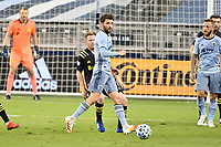 KANSAS CITY, KS - OCTOBER 11: Ilie Sanchez #6 of Sporting Kansas City with the ball during a game between Nashville SC and Sporting Kansas City at Children's Mercy Park on October 11, 2020 in Kansas City, Kansas.