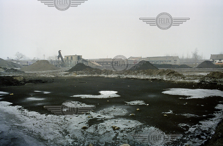 A coal depot in Linfen, one of the most polluted cities in China. Supplying a large part of the nation's energy, Shanxi is considered to be the centre of China's expanding coal industry. The huge demand for coal has led to the development of hundreds of often illegal and unregulated coal mines, excessive air pollution and many other environmental problems.