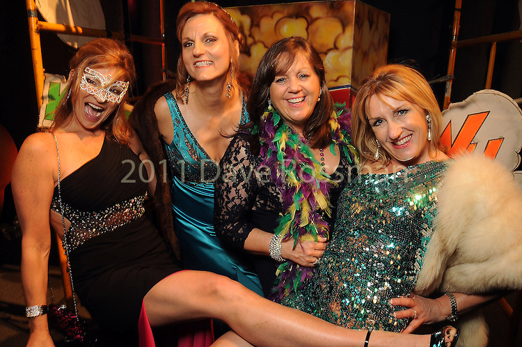 From left: Lindy Tennet, Linda Debolt, Lorna Ramsay and Rozi Turnbull at the 14th Annual San Luis Salute at the Galveston Island Convention Center Friday Feb 28, 2014.(Dave Rossman photo)